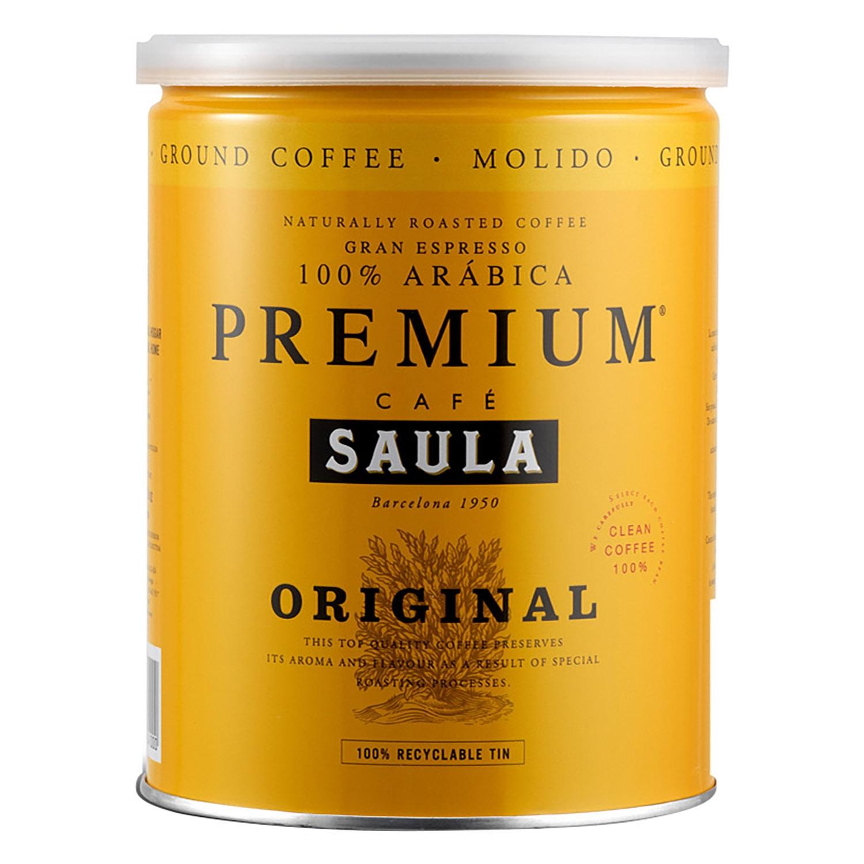Café molido natural Saula 250 g.