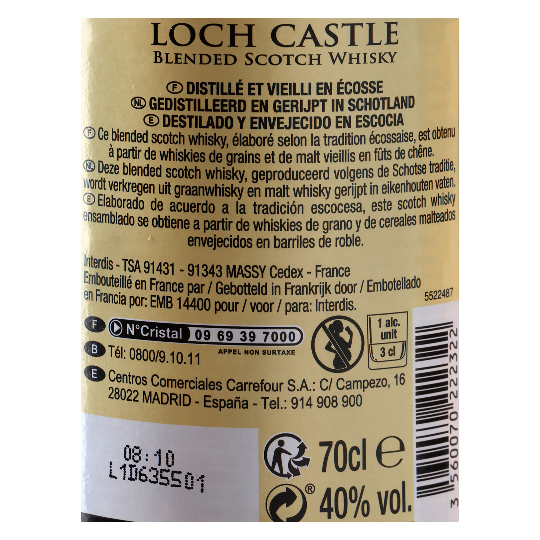 Whisky Loch Castle escocés 70 cl.  - 2