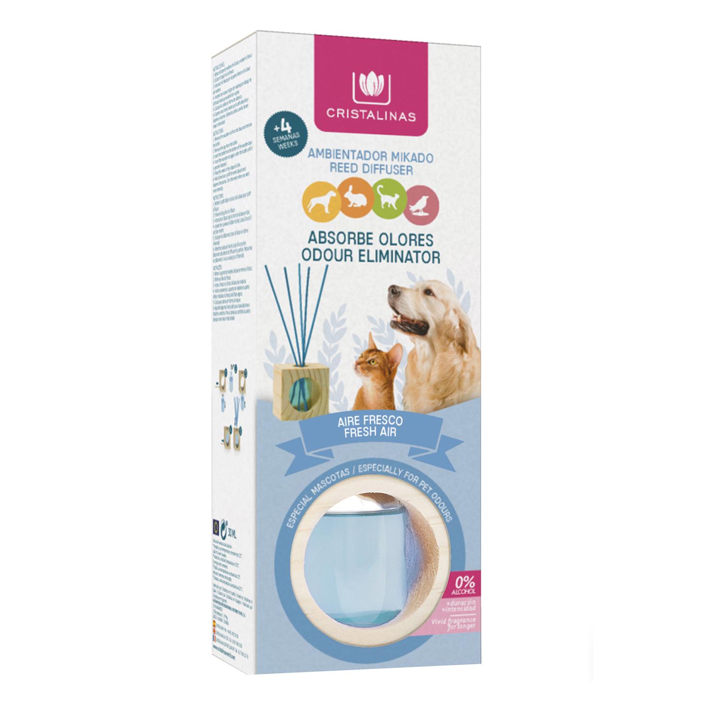 Ambientador varillas aire fresco Cristalinas 30 ml.