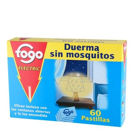 Insecticida eléctrico antimosquitos en pastillas recambio Fogo 60 ud.