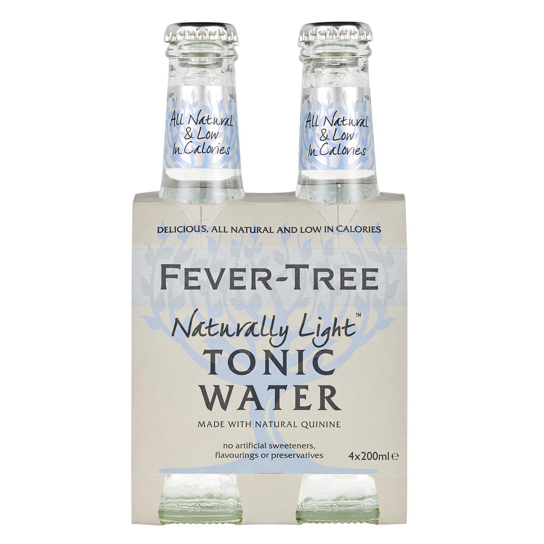 Tónica Fever Tree light pack de 4 botellas de 20 cl.