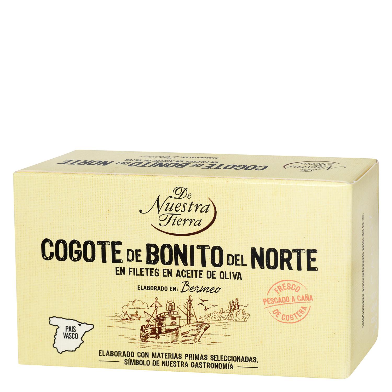 Cogote de Bonito del Norte en aceite de oliva De Nuestra Tierra 85 g.