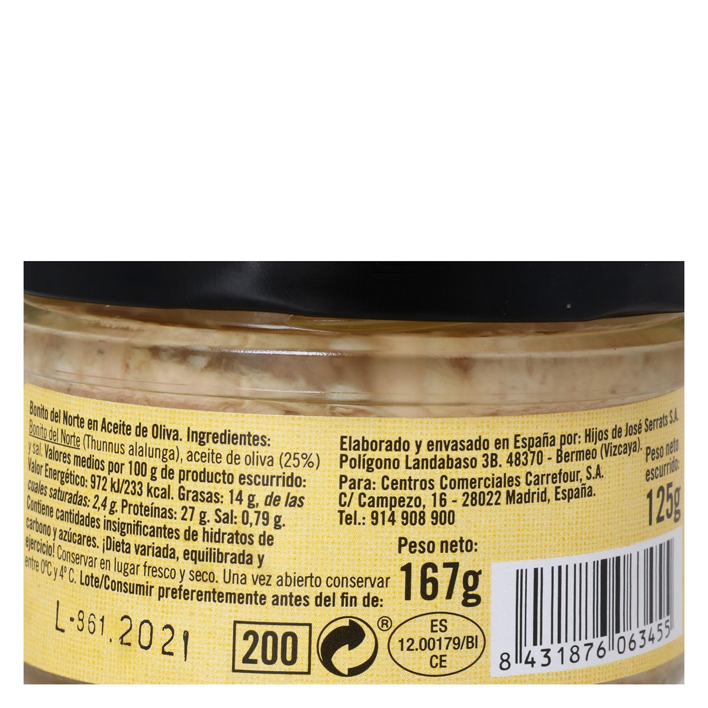 Bonito del Norte en aceite de oliva - De Nuestra Tierra -