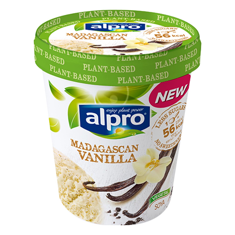 Helado de vainilla de madagascar Alpro 340 g.