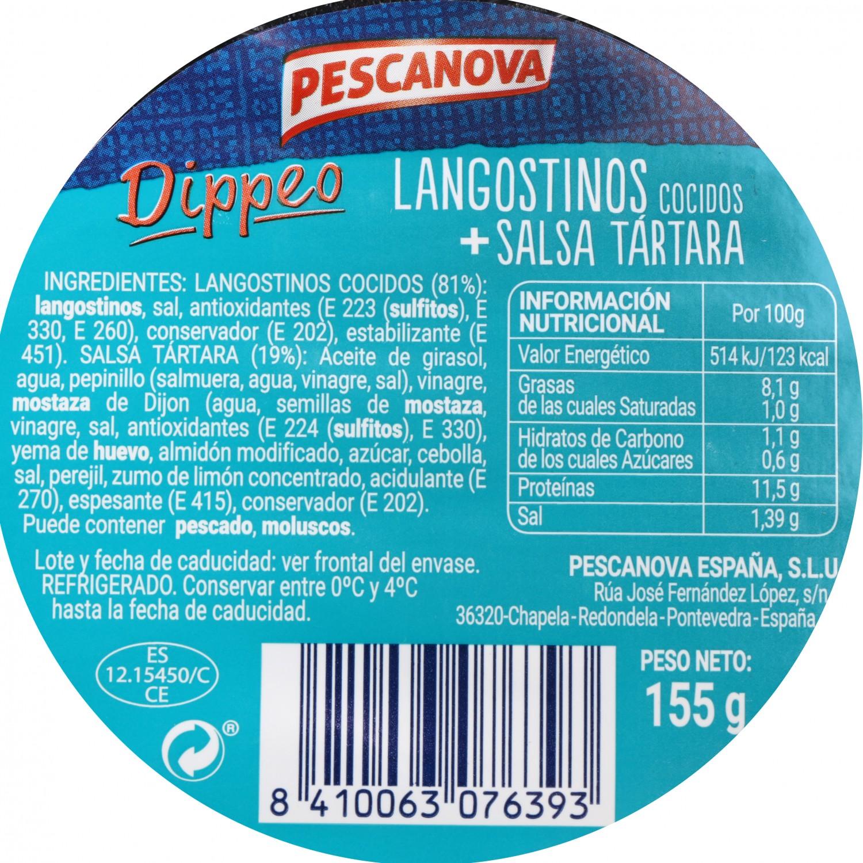 Dippeo Langostino con salsa tártara Pescanova 155 g - 3