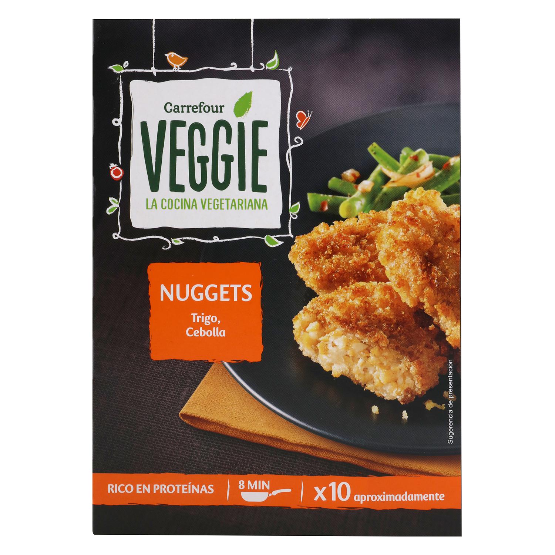 Nuggets vegetal de proteínas de trigo y cebolla Veggie
