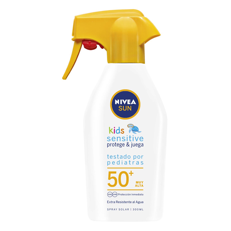 Spray solar  SPF 50+ Kids Sensitive Nivea Sun 300 ml.