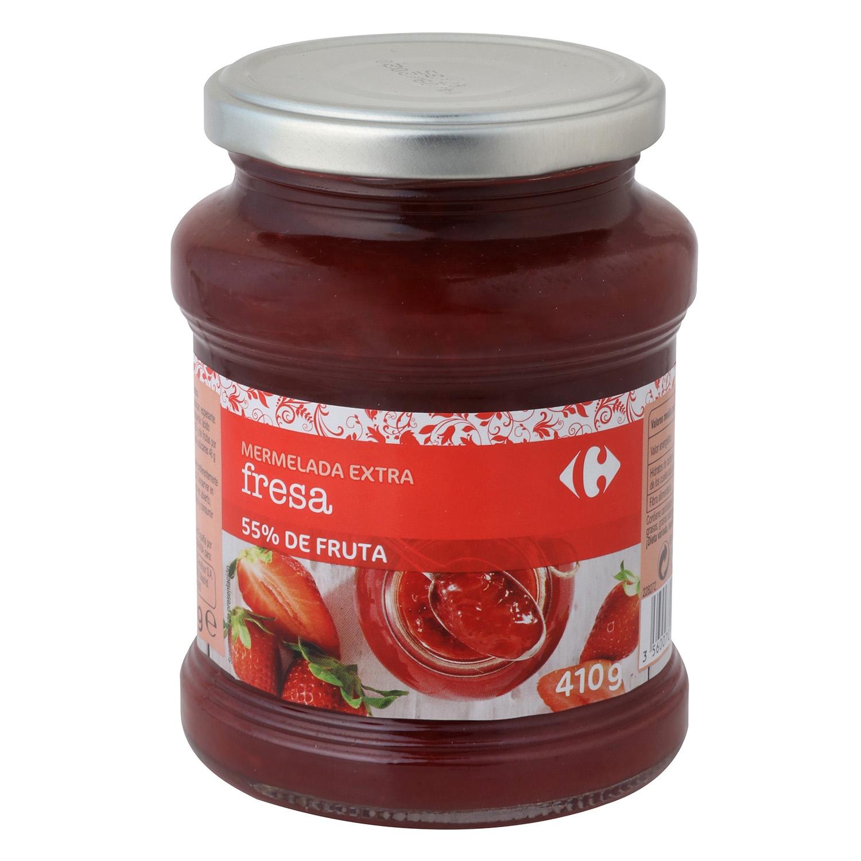 Mermelada de fresa categoría extra Carrefour 410 g.