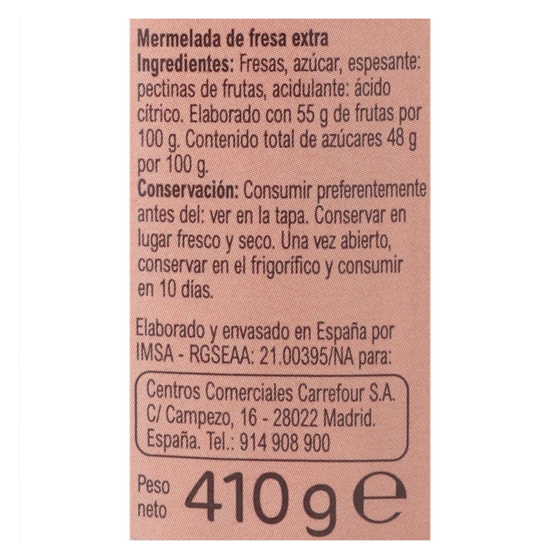 Mermelada de fresa categoría extra Carrefour 410 g. - 2