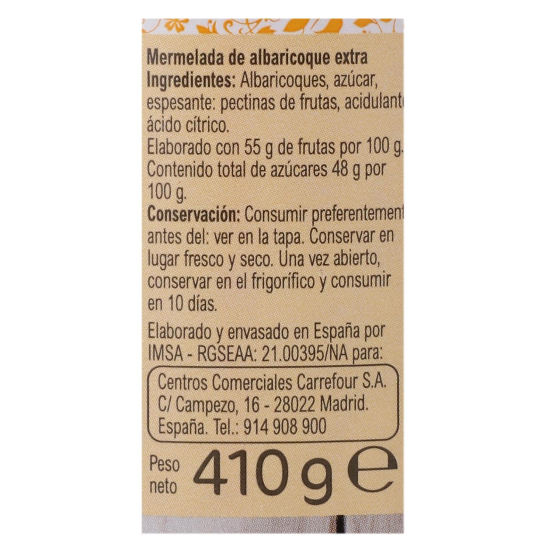 Mermelada de albaricoque categoría extra Carrefour 410 g. - 2