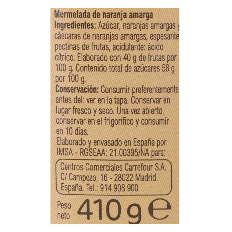 Mermelada de naranja amarga Carrefour 410 g. - 2