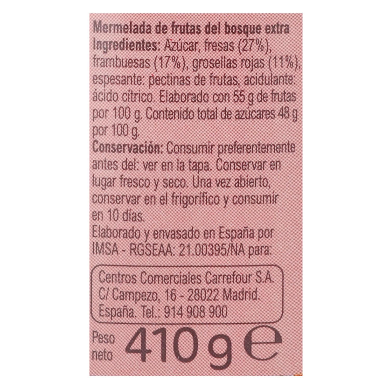 Mermelada de frutas del bosque categoría extra Carrefour 410 g. - 2