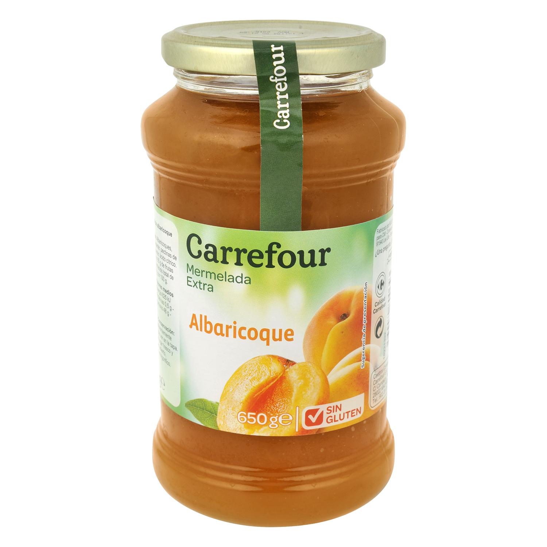 Mermelada de albaricoque categoría extra Carrefour sin gluten 650 g.