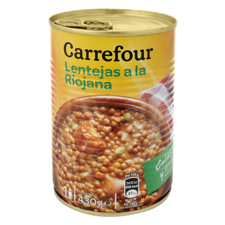Lentejas a la riojana Carrefour 430 g.