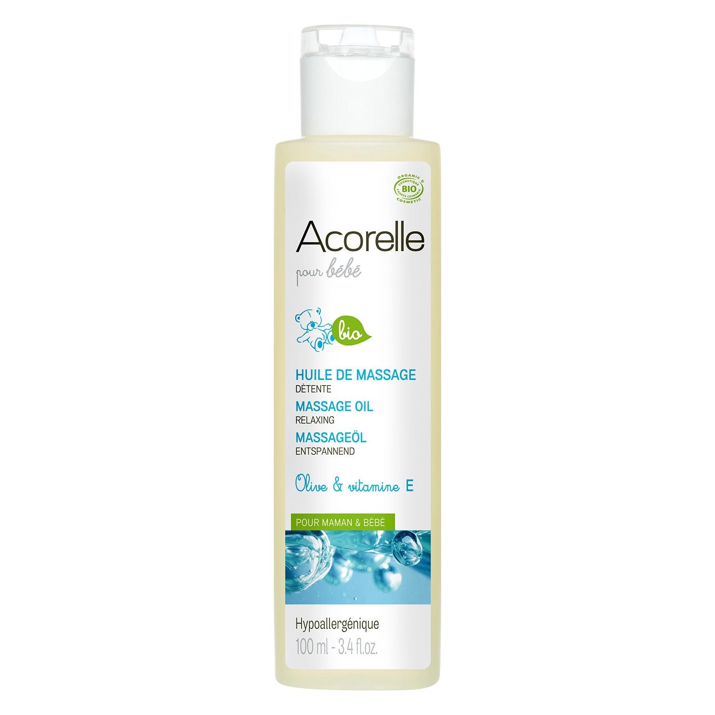 Aceite de masaje relajante para mamá y bebé ecológico Acorelle 100 ml.
