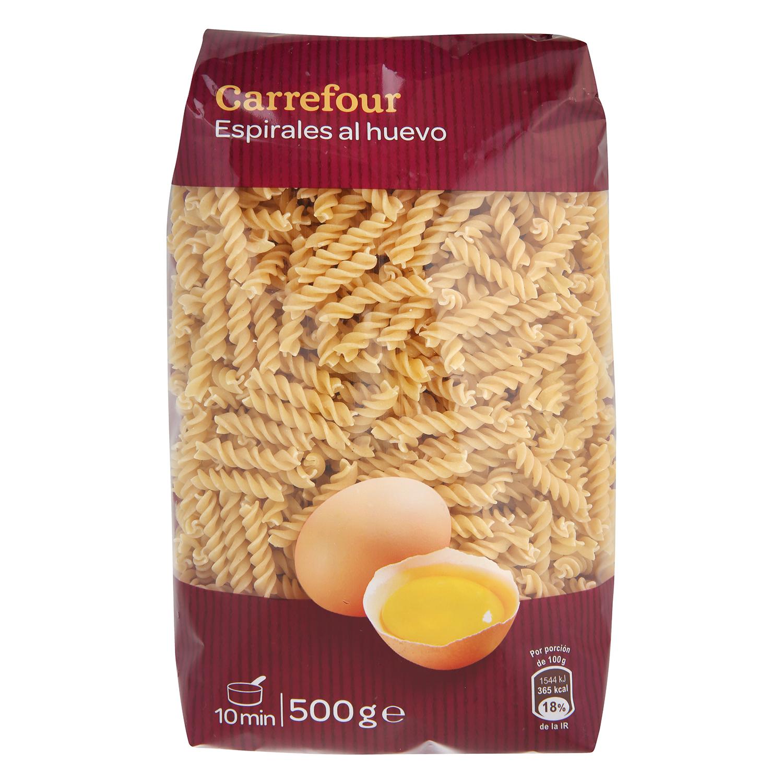 Espirales al huevo Carrefour 500 g.