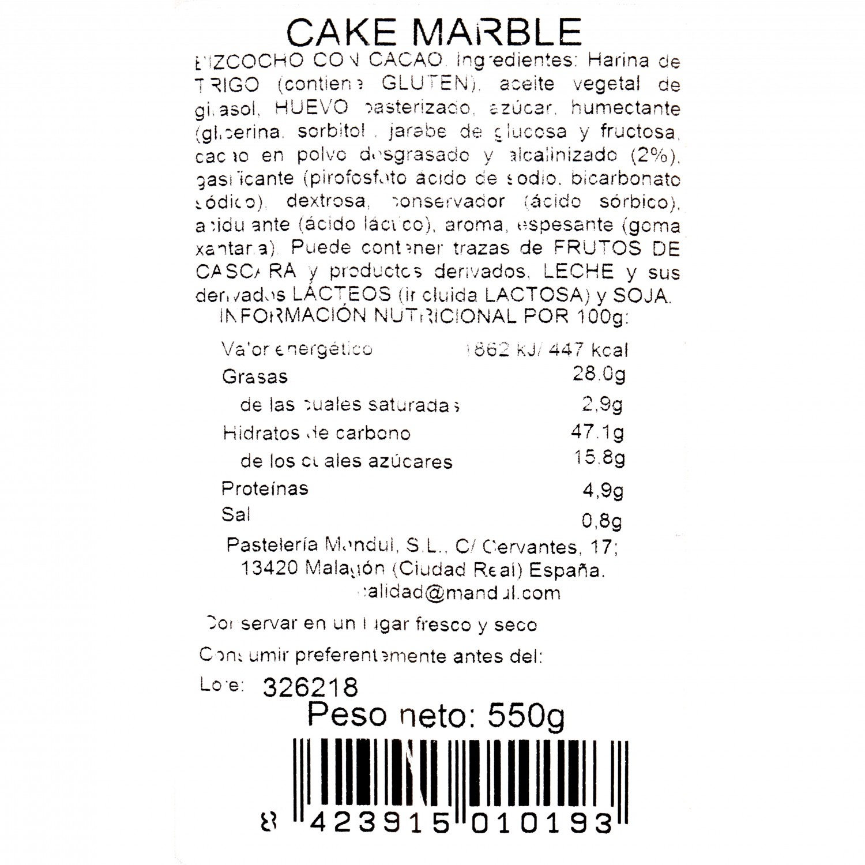 Cake Marble Pastelería Mandúl 550 g - 3