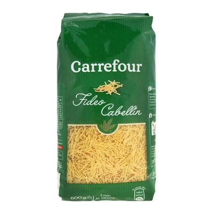 Fideo cabellín Carrefour 500 g.