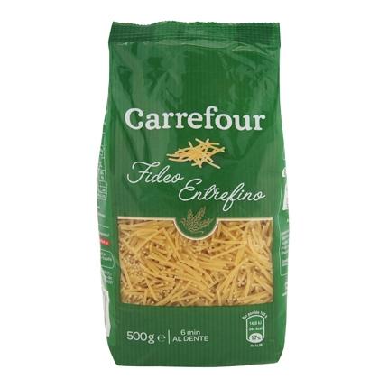 Fideo entrefino Carrefour 500 g.