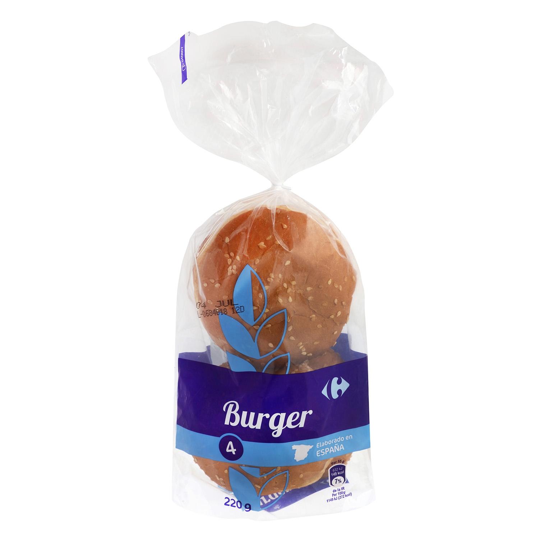 Pan Burger 4 de unidades Carrefour 4 ud.