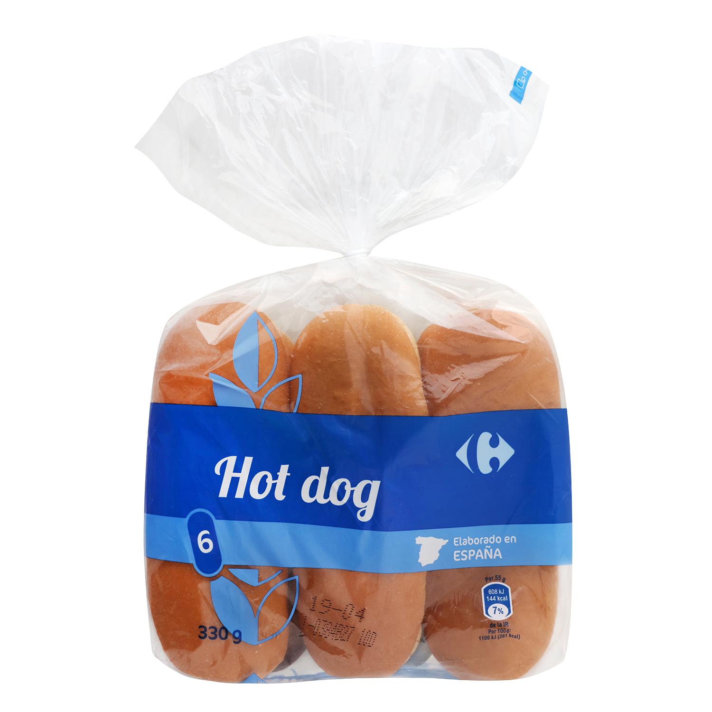Panecillos para perritos calientes Carrefour