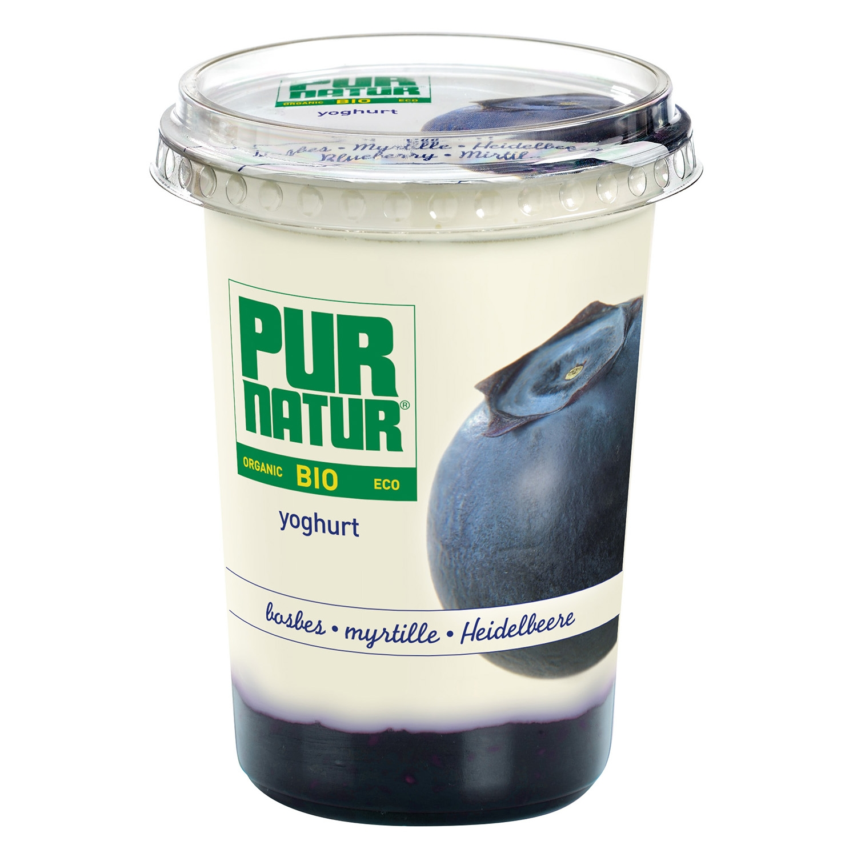 Yogur con arándanos ecológico Pur Natur 500 g.