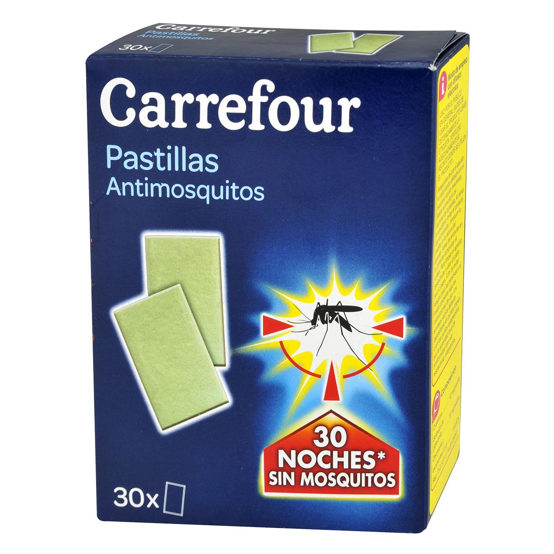 Insecticida eléctrico antimosquitos en pastillas Carrefour 30 ud.