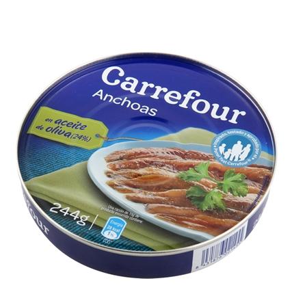Filetes de anchoa del Cantábrico en aceite de oliva