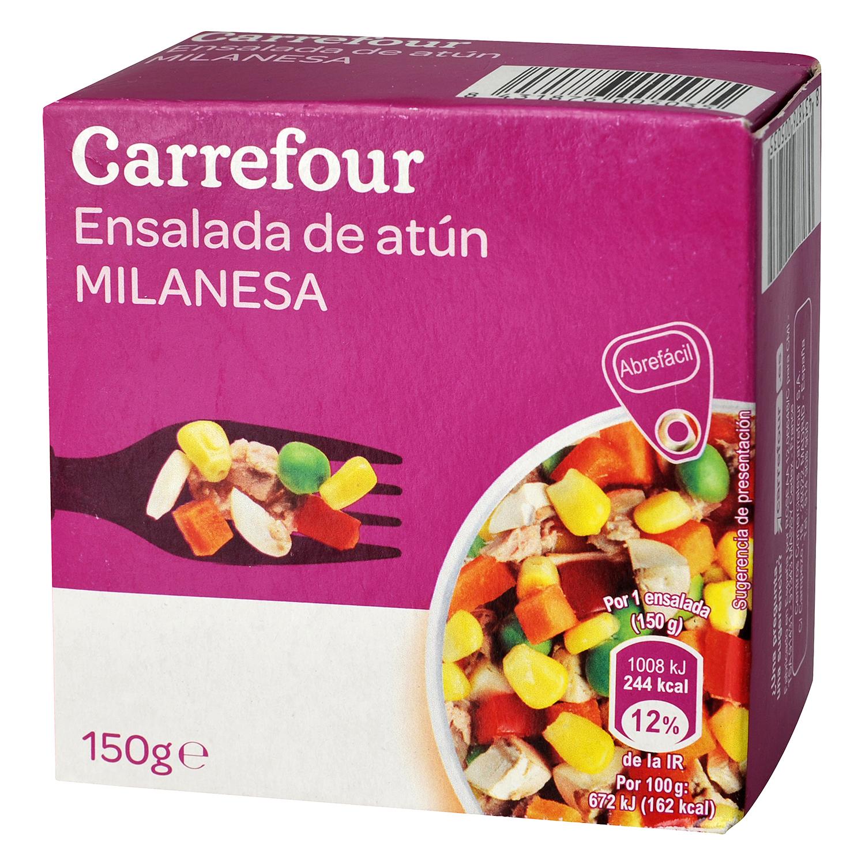 Ensalada milanesa de atún con vegetales Carrefour 157 g.