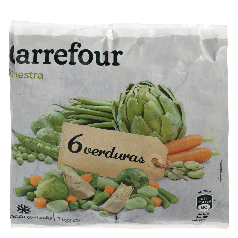 Menestra de verduras Carrefour 1 kg.