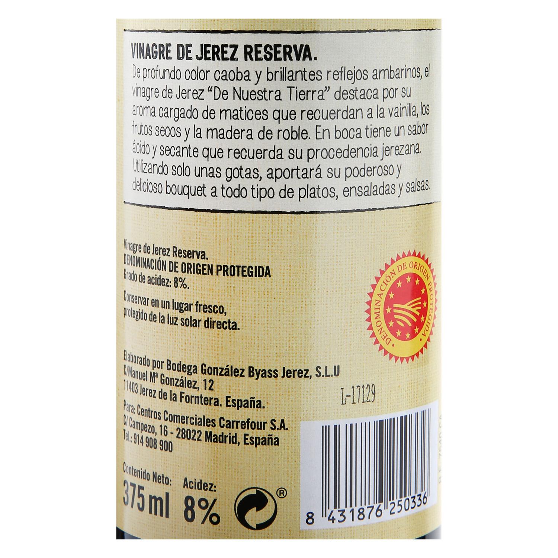 Vinagre de Jerez De Nuestra Tierra reserva 375 ml. - 2