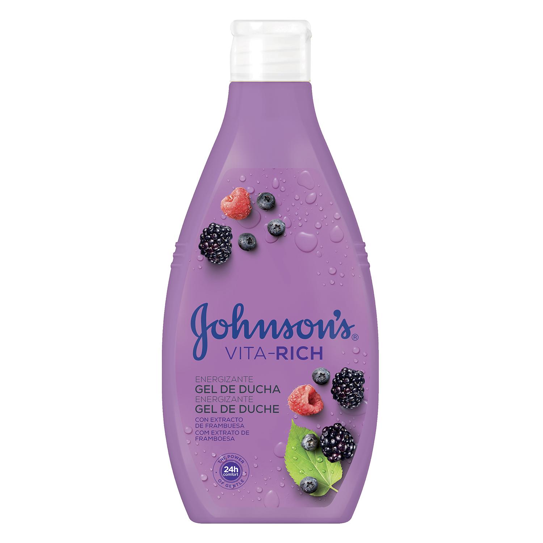 Gel de ducha Vita-Rich energizante con frambuesa y frutos rojos Johnson's 750 ml.