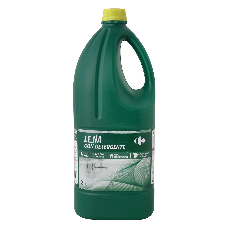 Limpiador con lejía y detergente perfume eucalipto Carrefour 2 l.