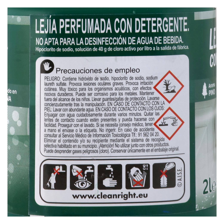 Limpiador con lejía y detergente perfume eucalipto Carrefour 2 l. - 2