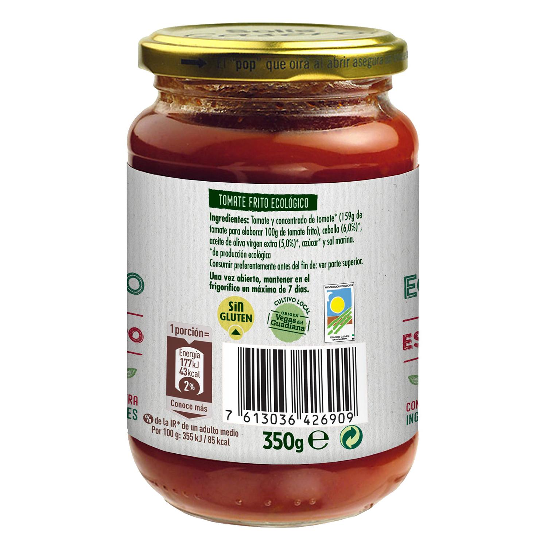 Tomate frito con aceite de oliva ecológico Solis tarro 350 g. - 2