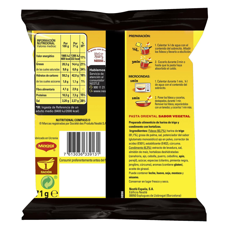 Pasta oriental Fusian sabor vegetal -