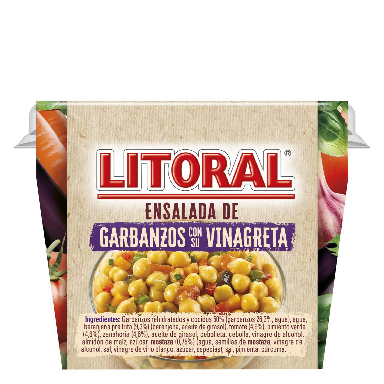 Ensalada de garbanzos con vinagreta Litoral 240 g. -