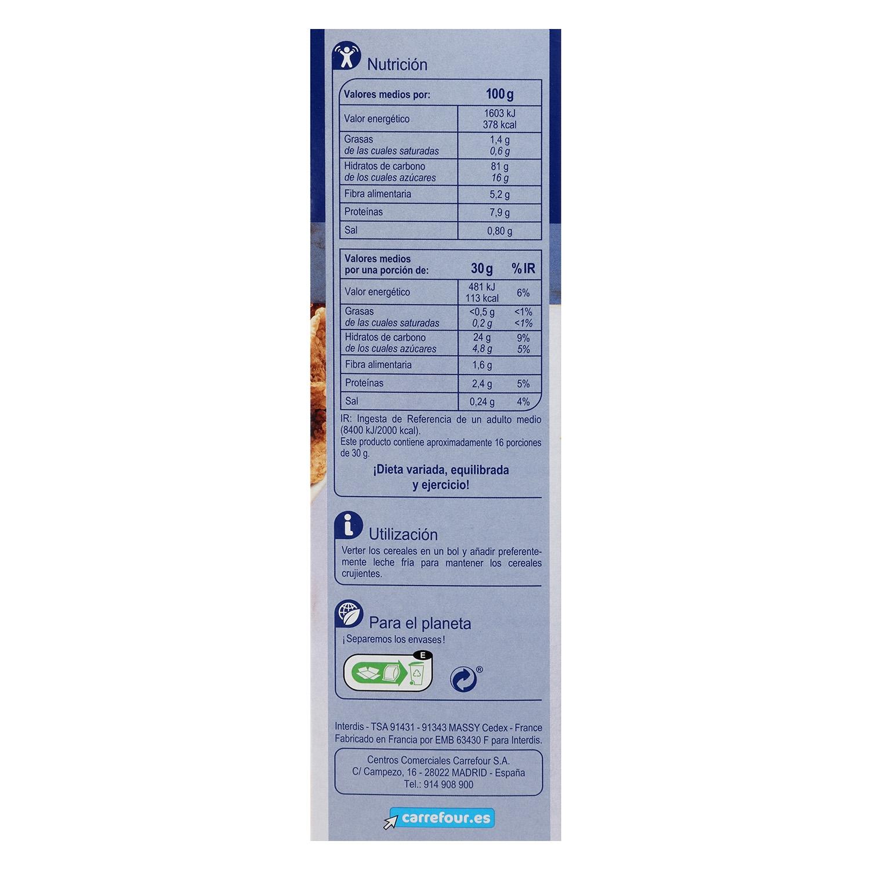 Copos de arroz, trigo integral u cebada integral Stylesse Carrefour 500 g. -