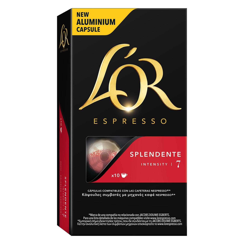 Café splendente en cápsulas compatible con Nespresso