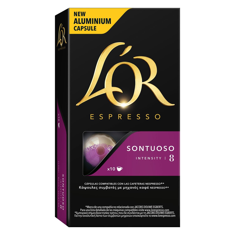 Café sontuoso en cápsulas compatible con Nespresso