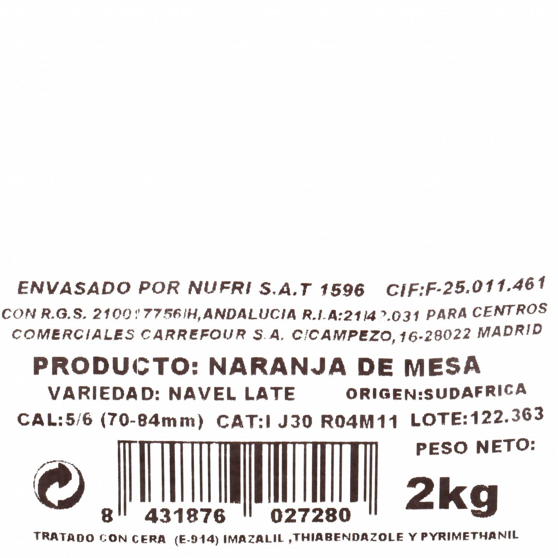 Naranja de Mesa Carrefour Malla 2 Kg - 3