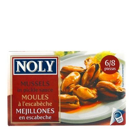 Mejillones en escabeche 6/8 Noly 69 g.