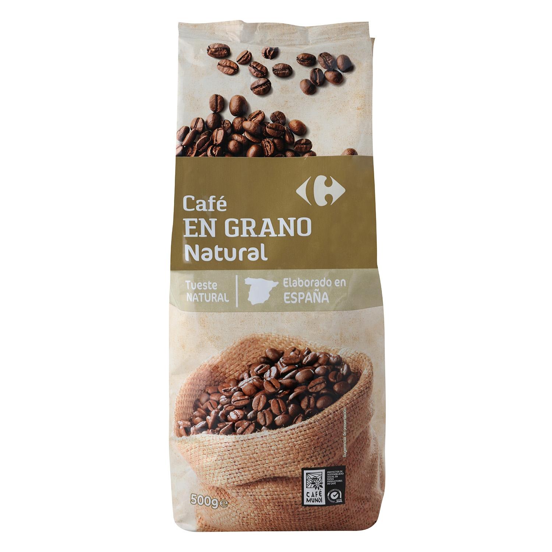 Café grano natural Carrefour 500 g.