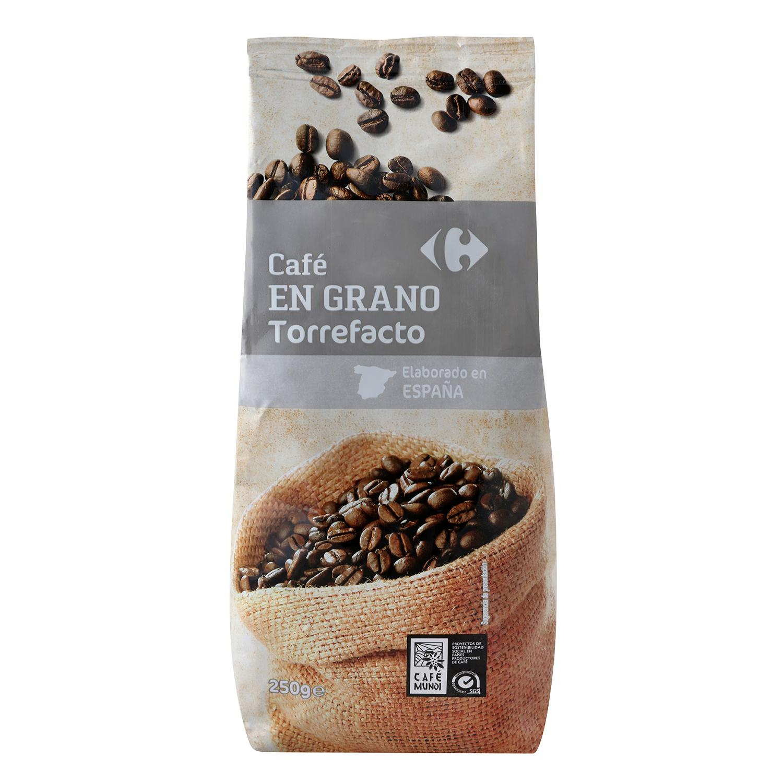 Café grano torrefacto Carrefour 250 g.