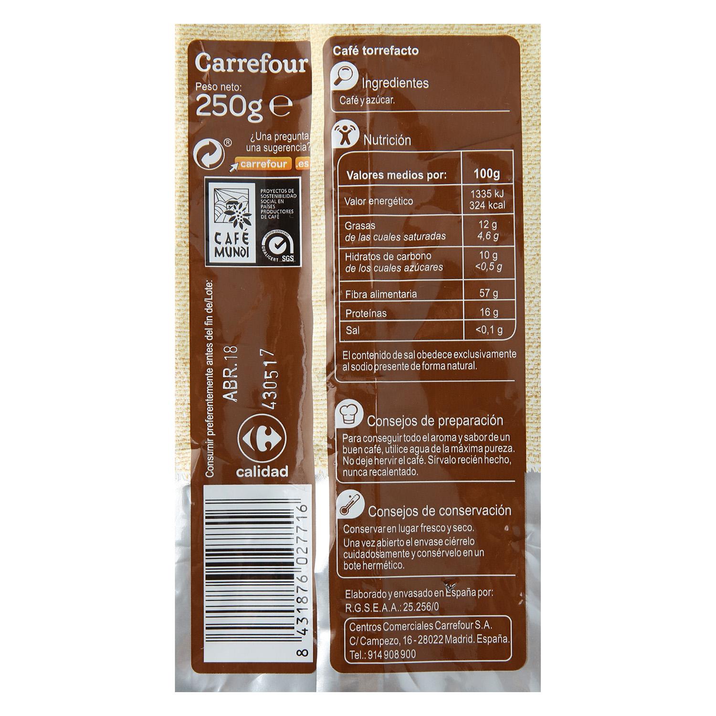 Café grano torrefacto Carrefour 250 g. - 2