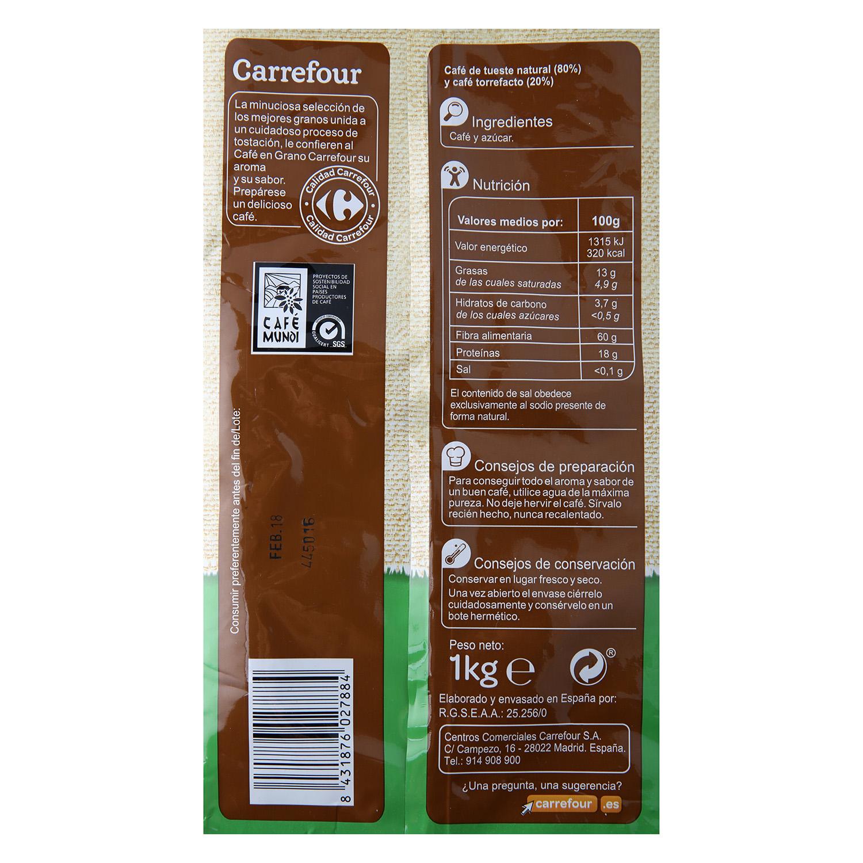 Café grano mezcla Carrefour 1 kg. - 2