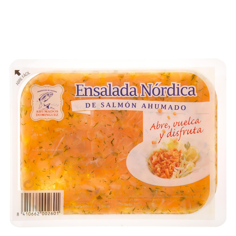 Ensalada de salmón ahumado Ahumados Domínguez 100 g.