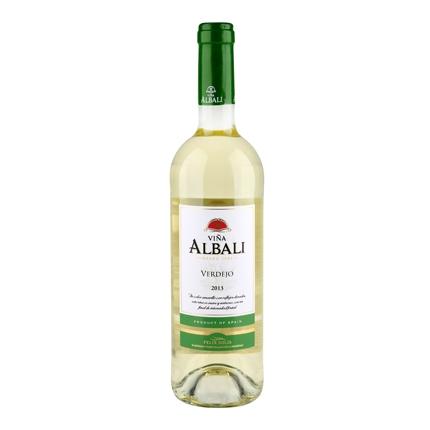 Vino D.O. Valdepeñas blanco Viña Albali 75 cl.