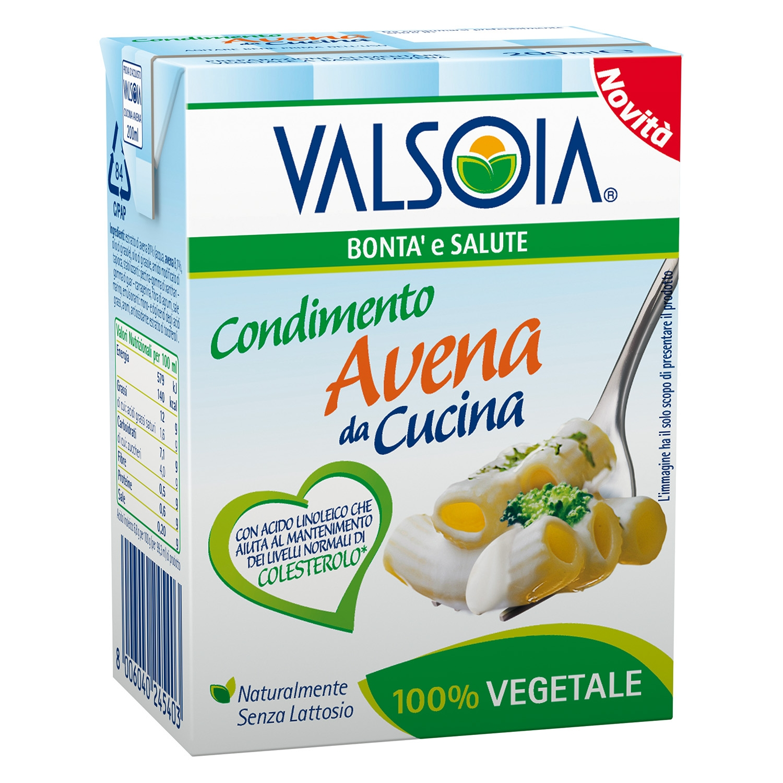 Condimento vegetal de avena Valsoia brik 200 ml.