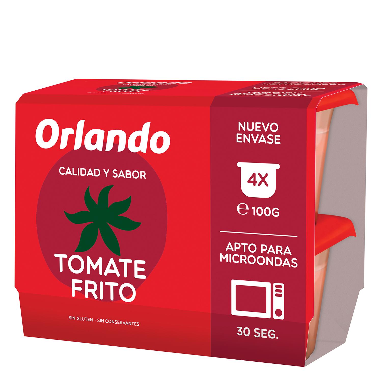 Tomate frito Orlando sin gluten pack de 4 unidades de 100 g.